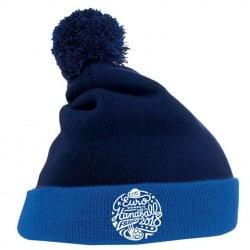 Bonnet Pompon Euro Handball Bleu