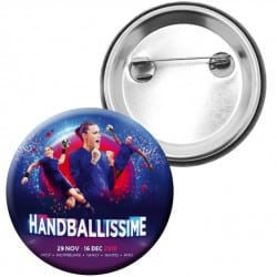 Badge Affiche Euro Handball Bleu