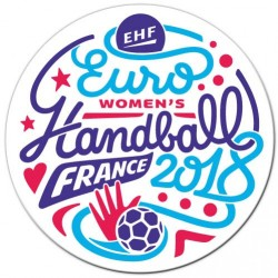 Autocollant Euro Handball Blanc