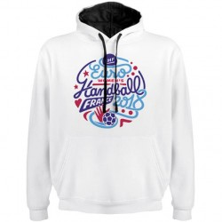 Sweat Logo Euro Handball Blanc